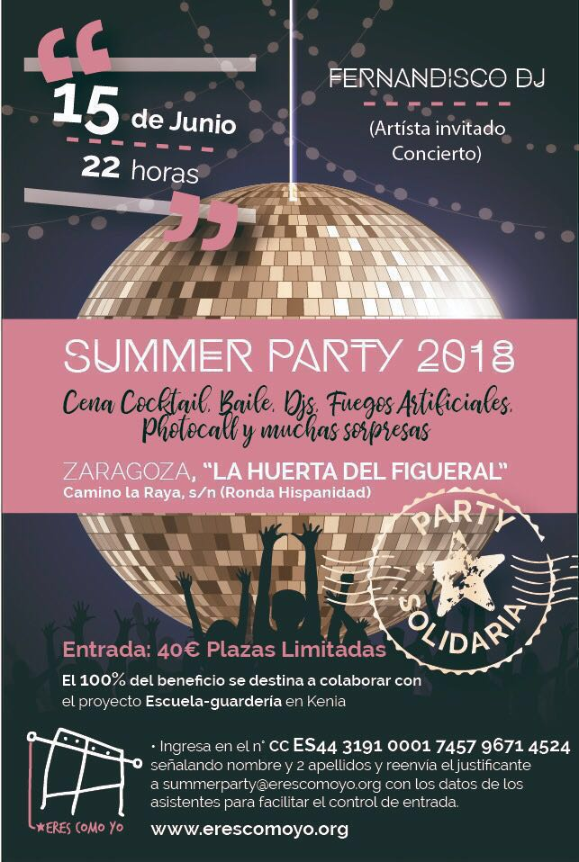Summer Party 2018 - ERESCOMOYO - Fiesta solidaria
